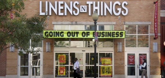 Linens 'n Things Chapter 11 bankruptcy store closings