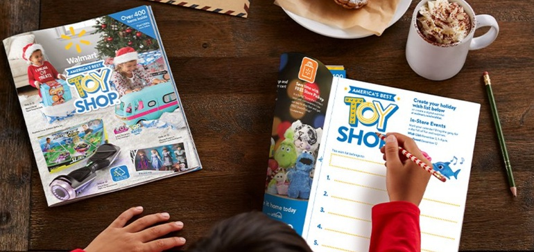 Walmart links mobile Scan & Shop with printed holiday toy catalog