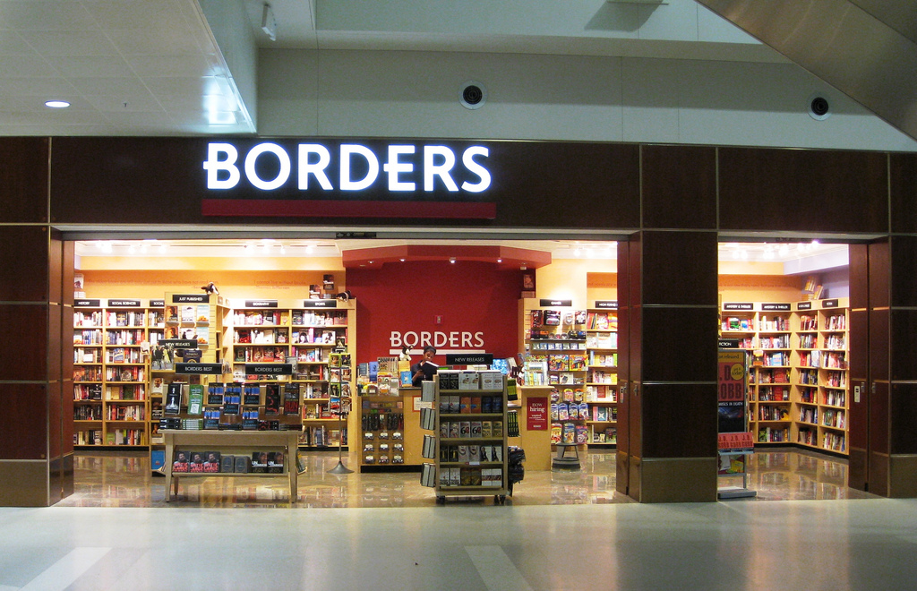 Borders went bankrupt in 2011 and never recovered