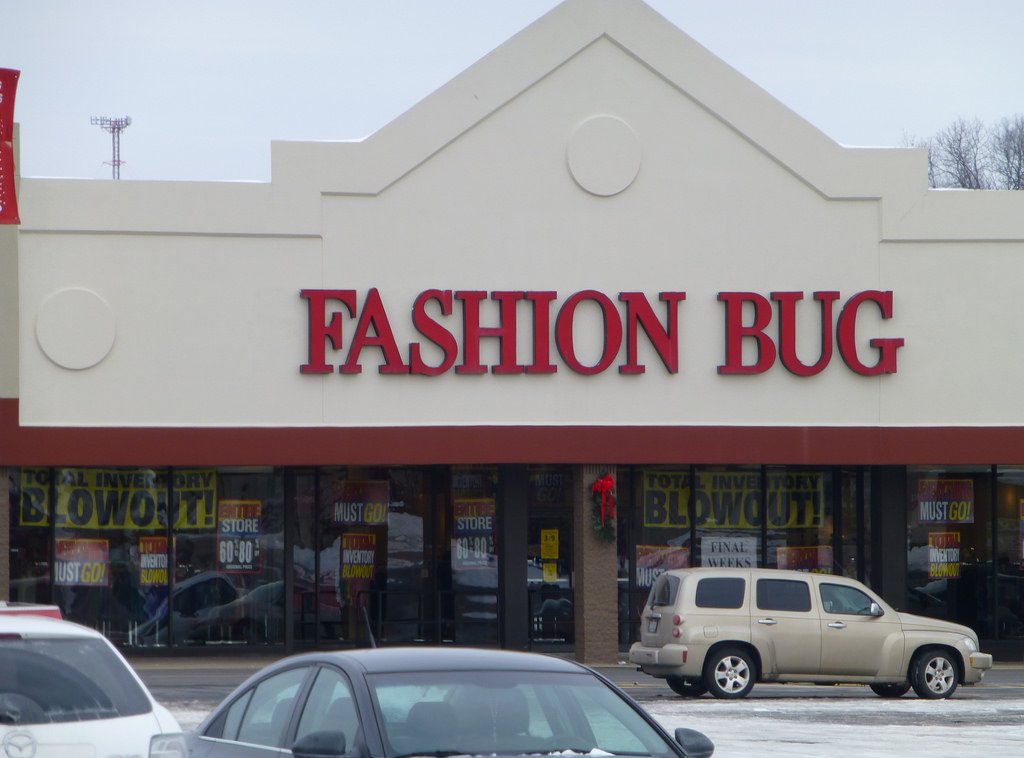 Fashion Bug filed for bankruptcy in 2013